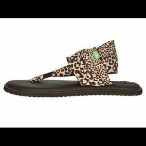 Sanuk Leopard Yoga Sling Sandals